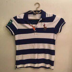 Ralph Lauren Embroidered #3 Polo Shirt Boys XL